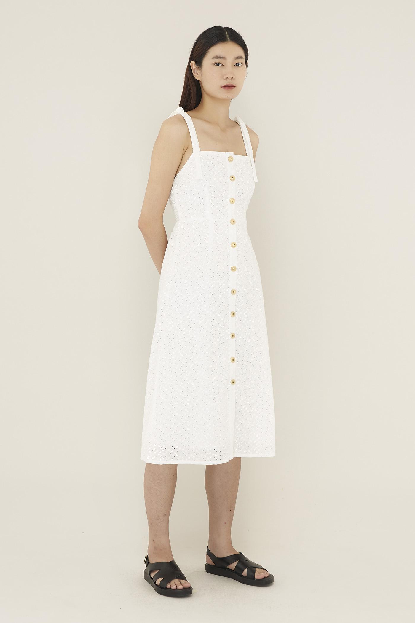 Liseth Broderie Midi Dress
