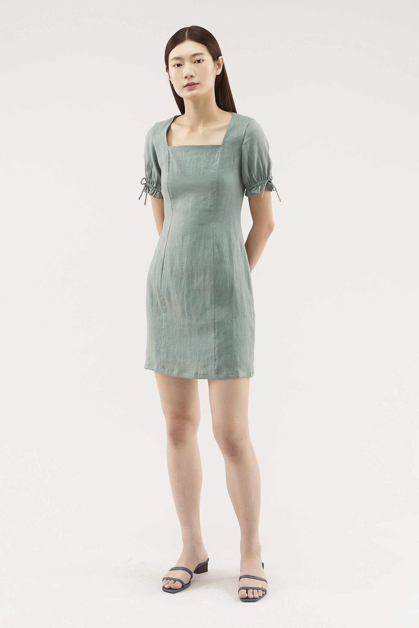 Ayleen Square-neck Shift Dress