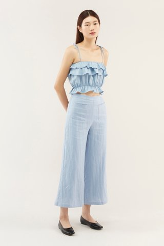 Naiya Ruffle Crop Top