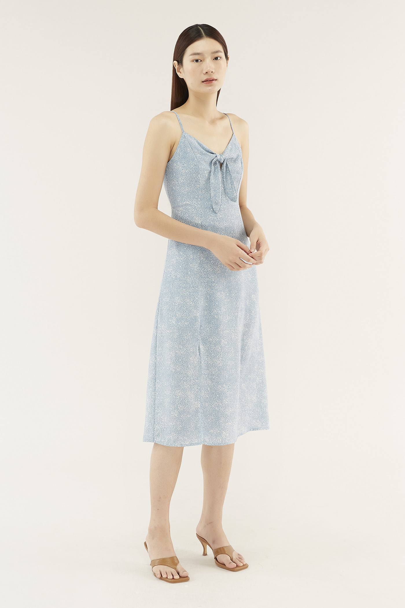 Deonne Front-tie Dress