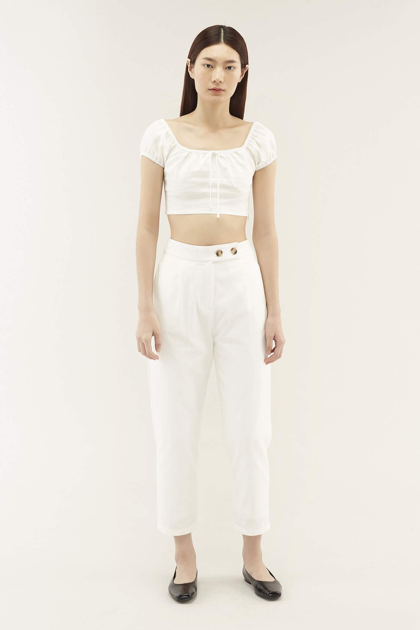 Teara Linen Crop Top