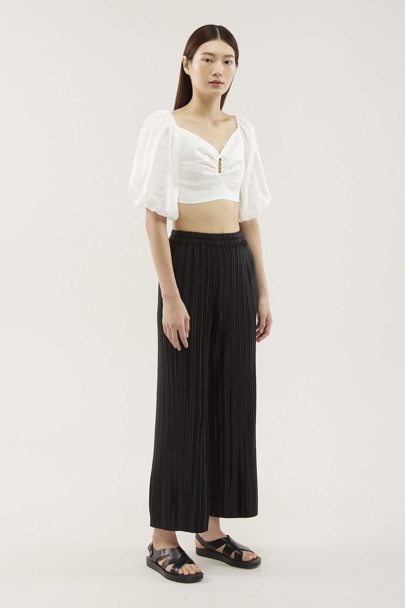 Florita Accordion-pleat Pants