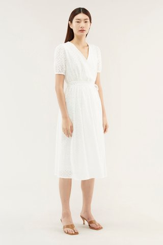 Rayana Eyelet Wrap Dress