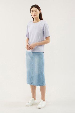 Ceanny Pleat-sleeve Blouse