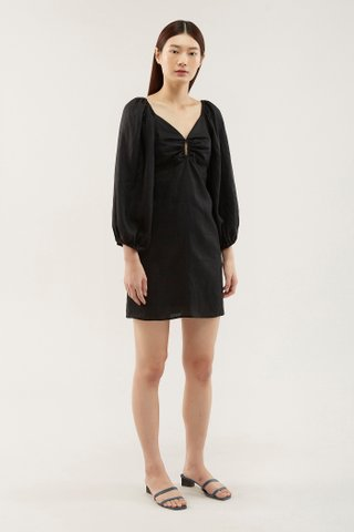 Mareeca Puff-sleeve Dress