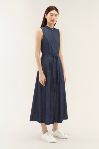 Liesha Stand-collar Dress