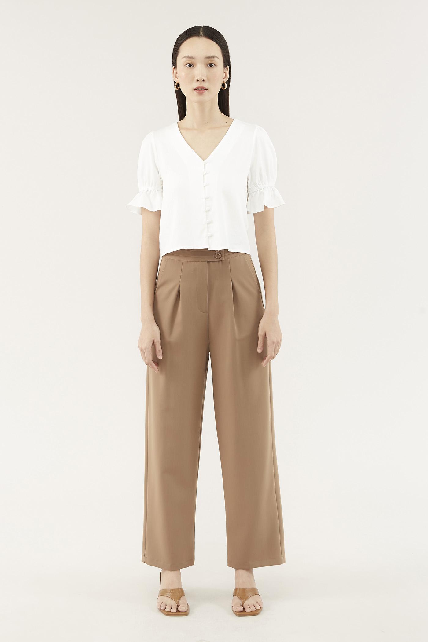 Danka Pleated-waist Pants