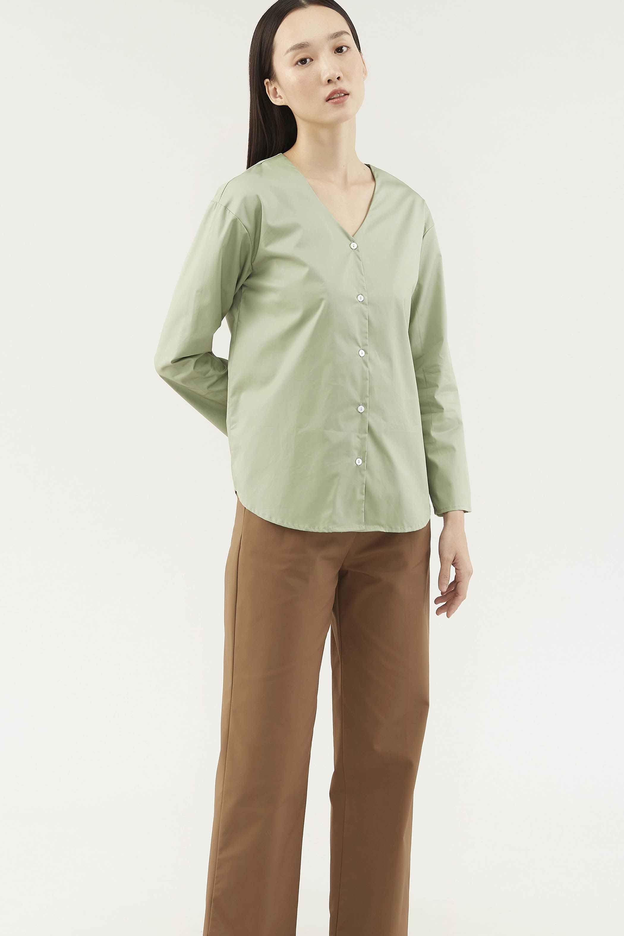 Erynne V-neck Blouse