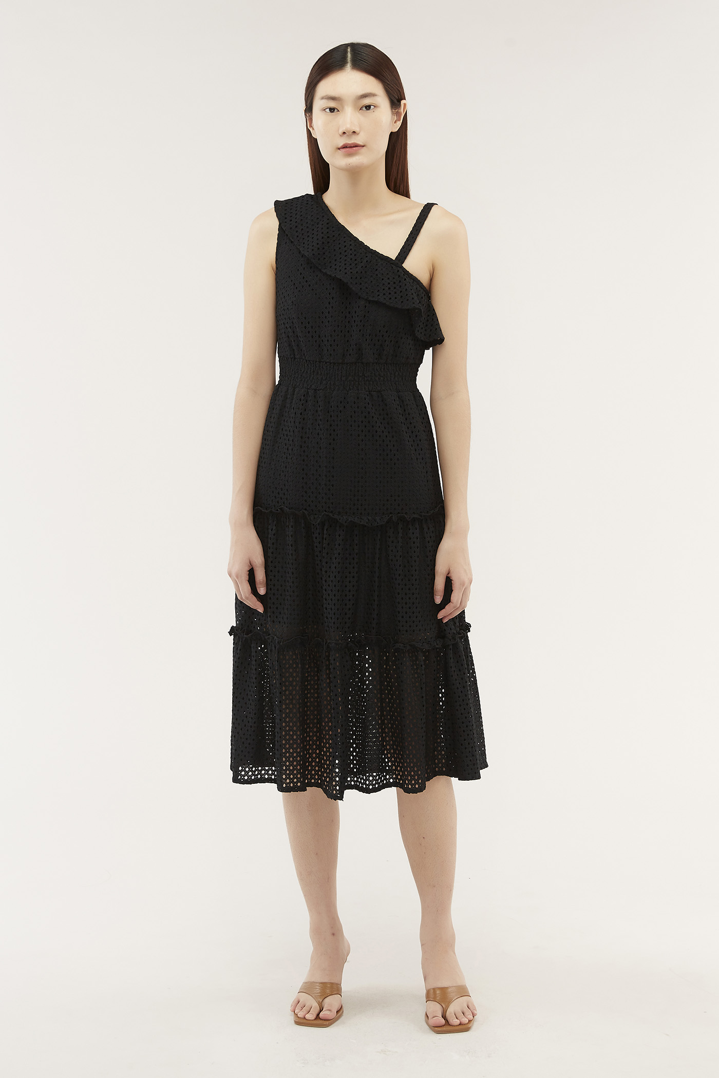 Aniela Ruffle-trim Dress
