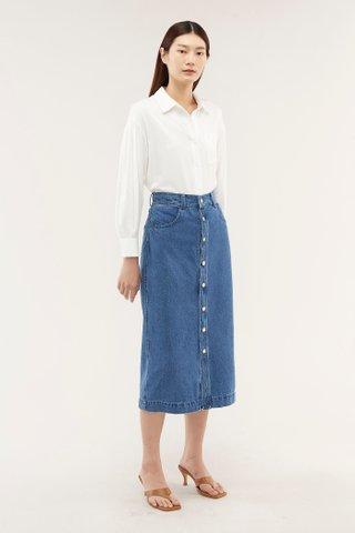 Camara Denim Midi Skirt
