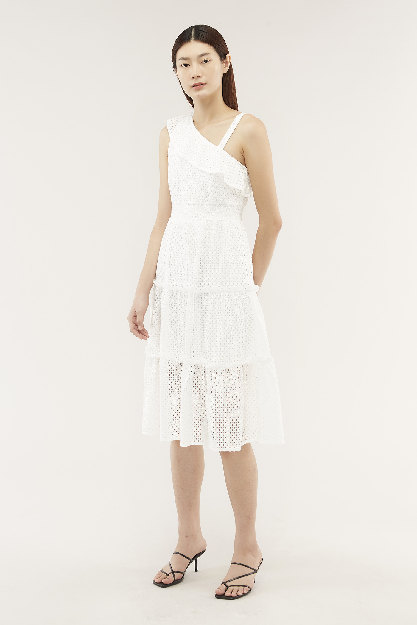 Aniela Ruffle-trim Dress