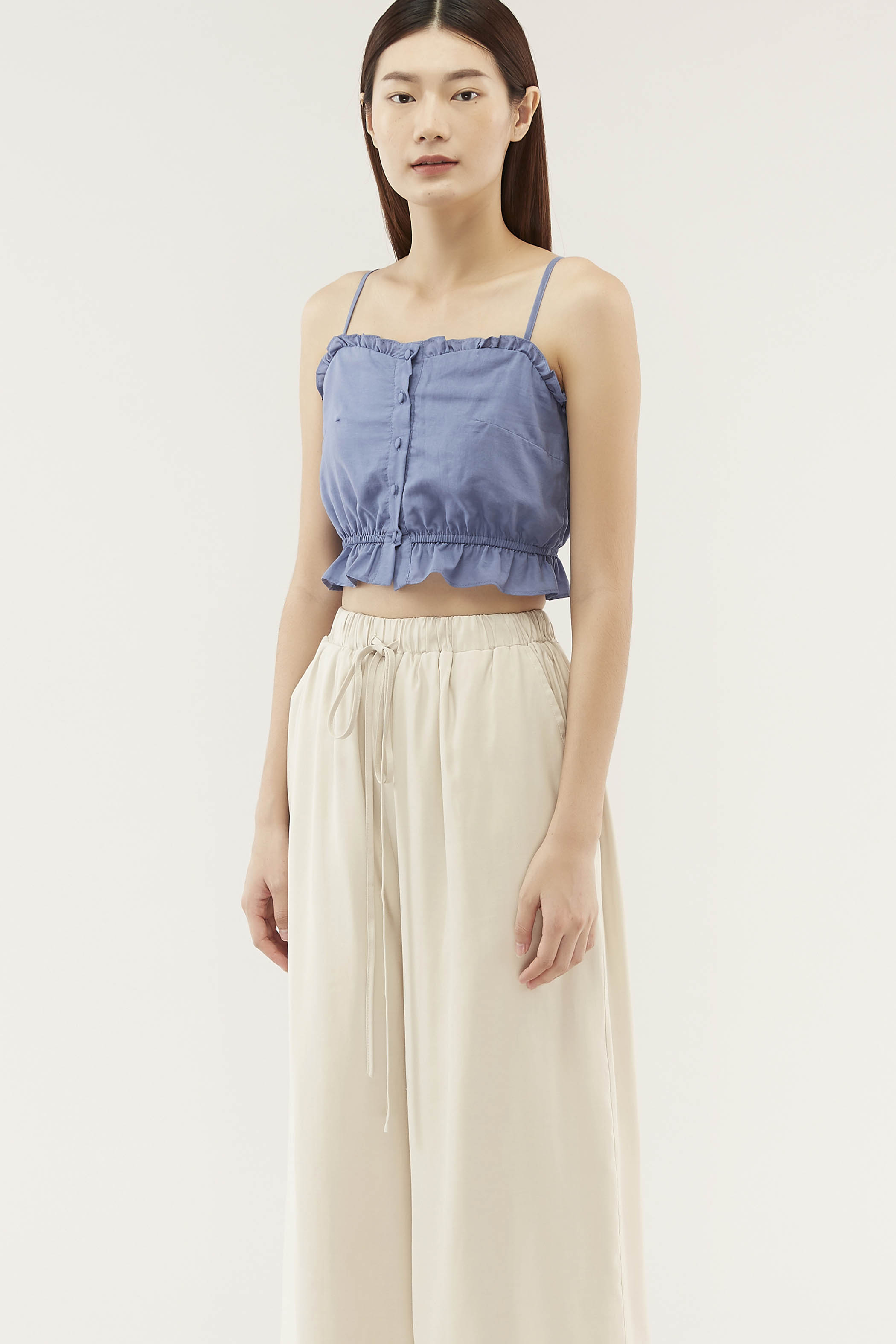 Jenica Frill-trim Crop Top