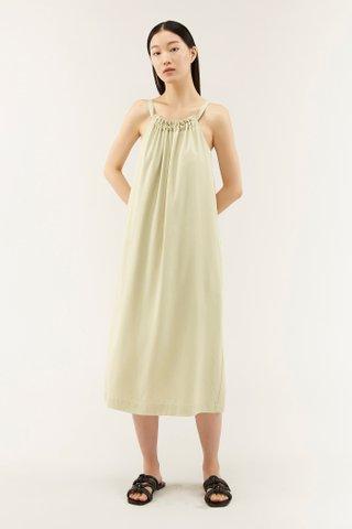 Adelia Gathered-neckline Dress