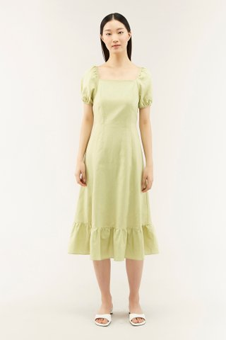 Caitlin Puff-sleeve Dress