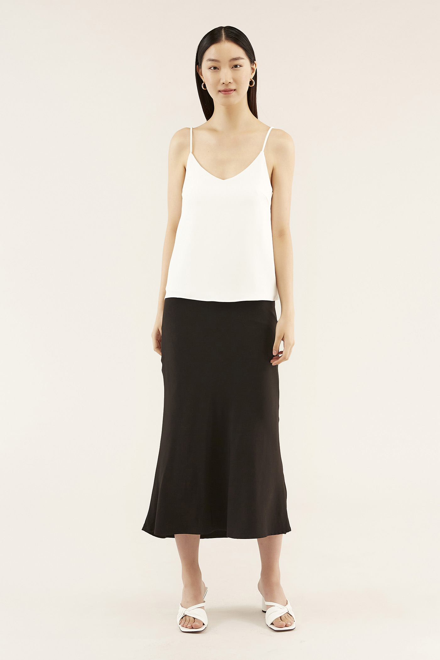 Blaine Bias-cut Skirt