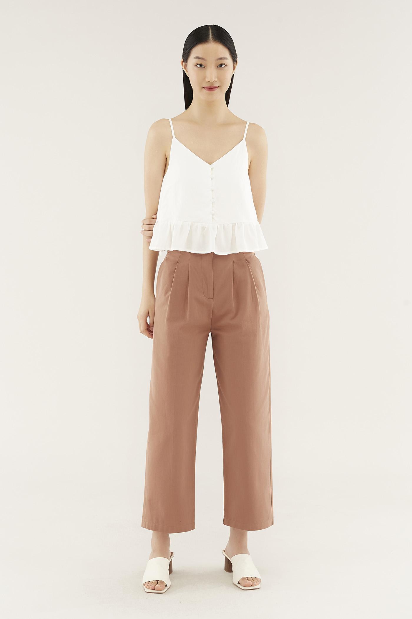 Bionca Flat-pleat Pants