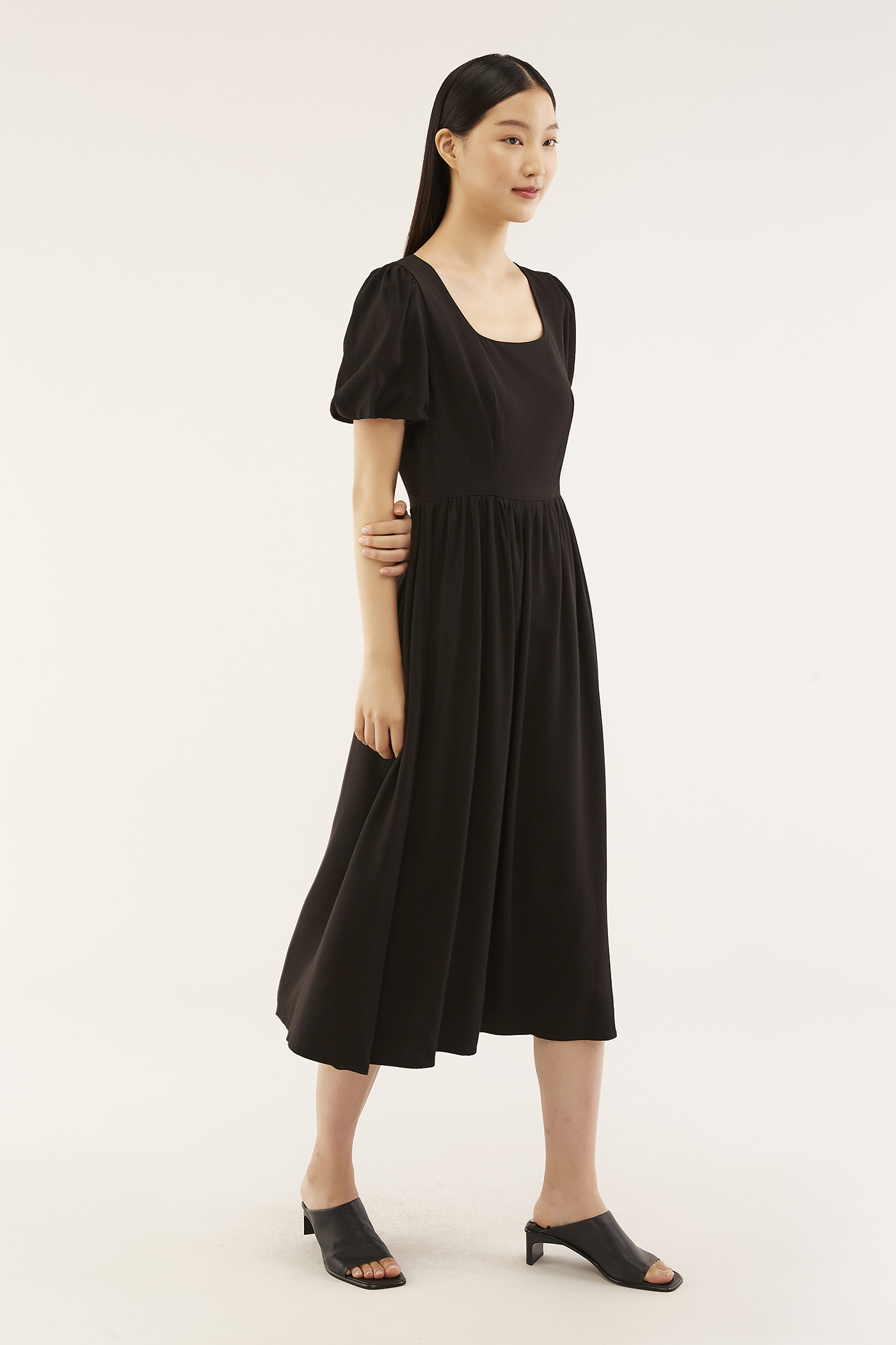 Relene Puff-sleeve Dress