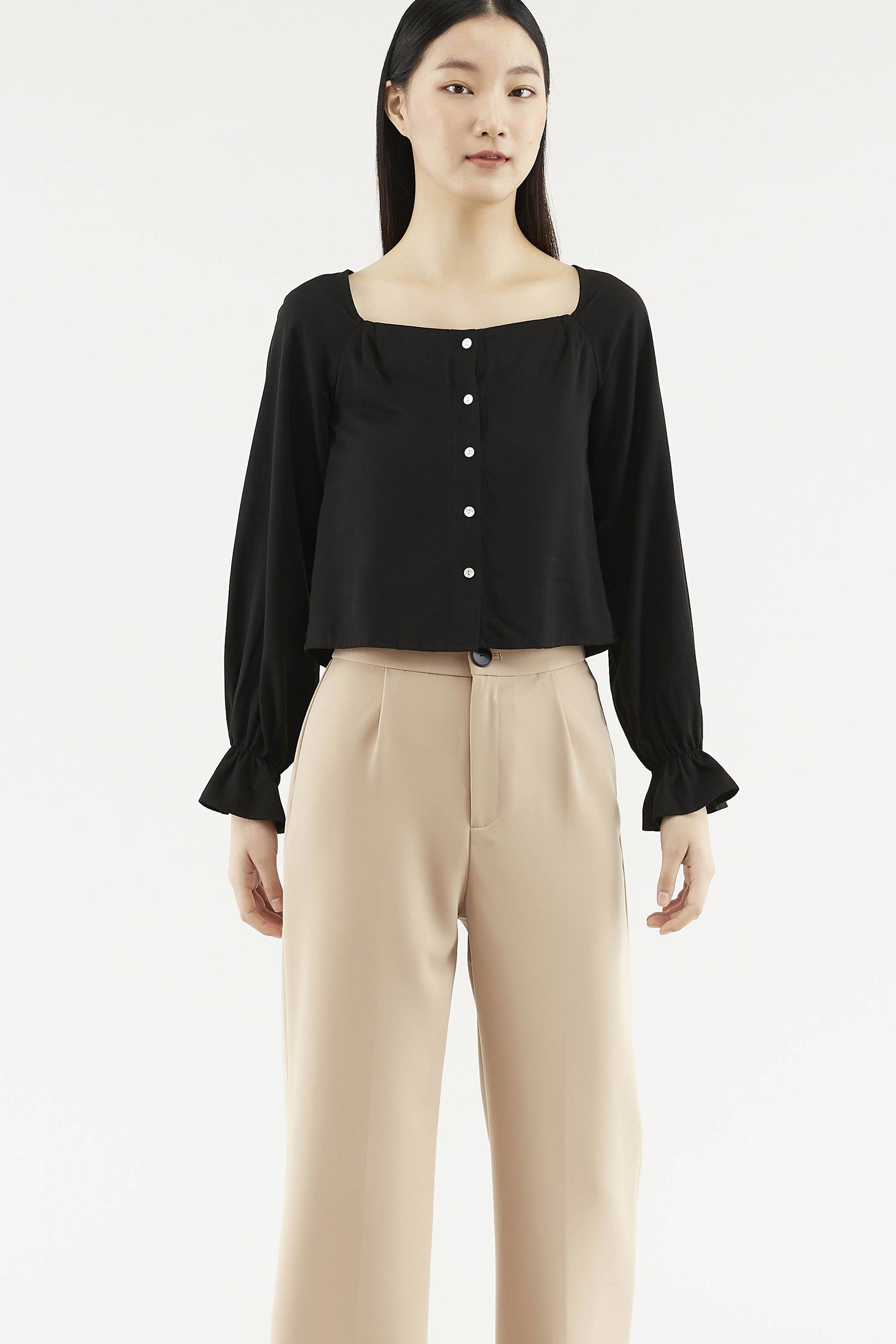 Camiel Square-neck Blouse