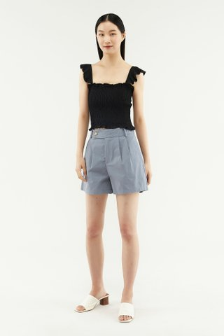 Alden Shirred Crop Top