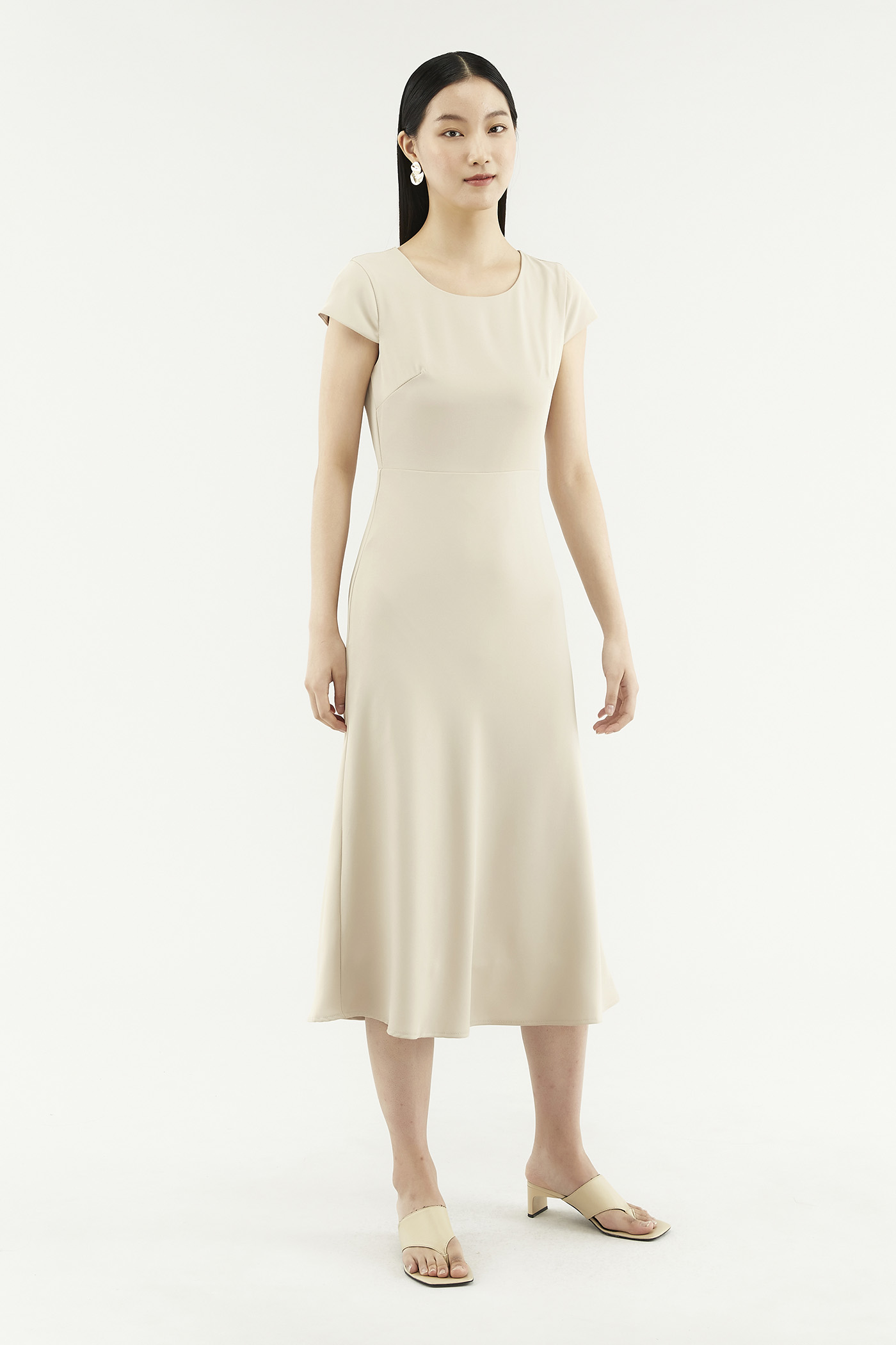 Kaelea Cap-sleeve Dress