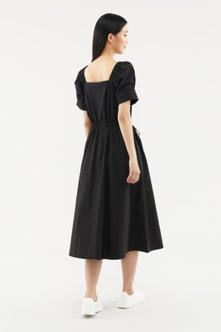 Sharene Puff-sleeve Dress
