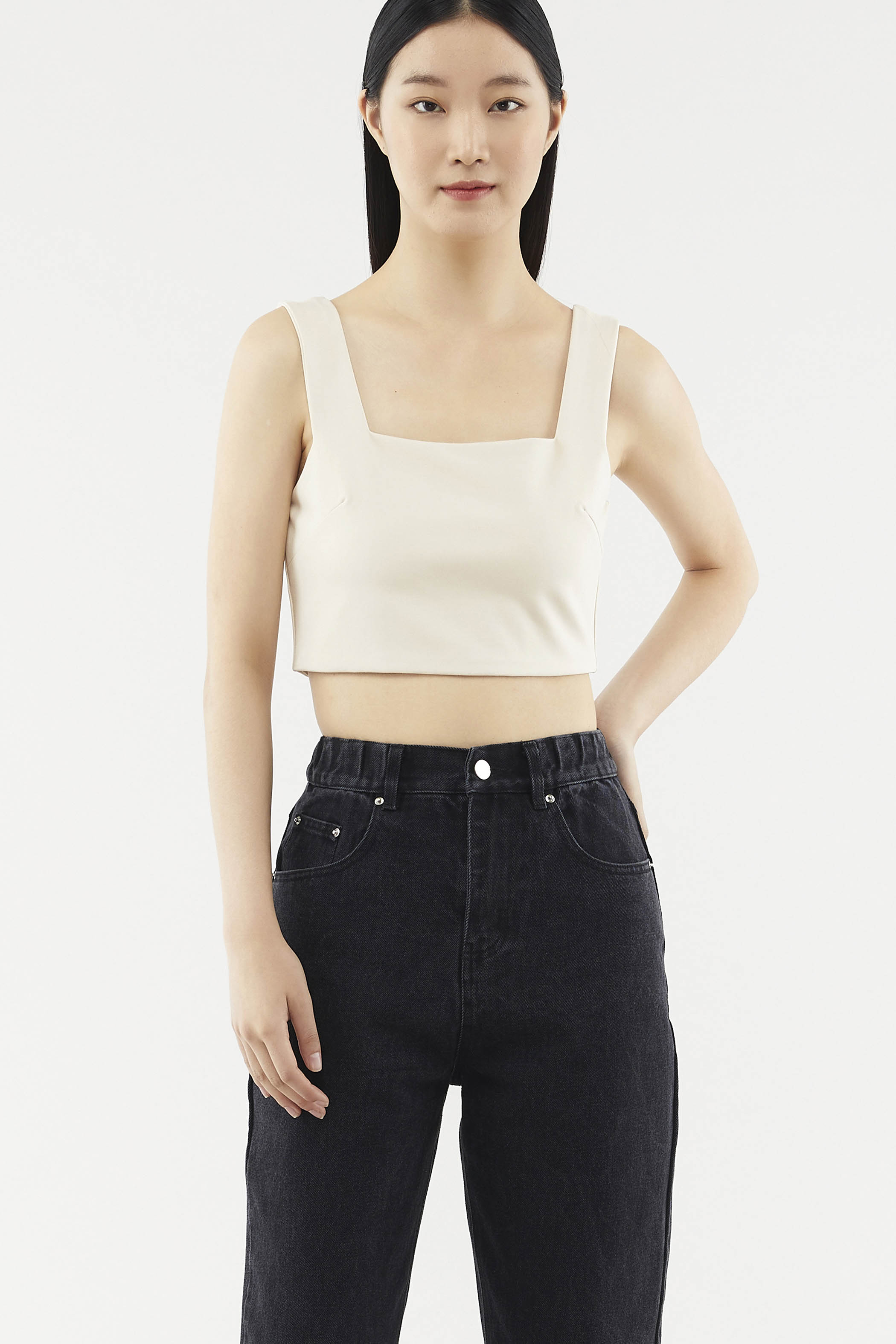 Esther Square-neck Crop Top