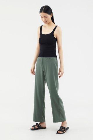 Elyse Square-neck Knit Top