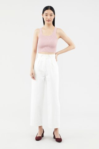 Faydah Ribbed Crop Tank