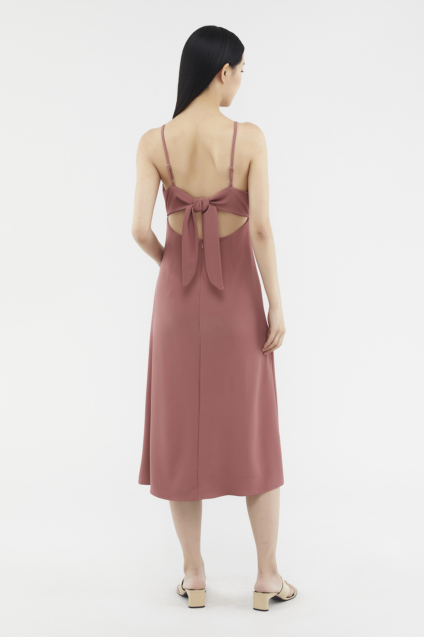 Halley Back-tie Midi Dress